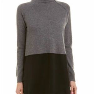 NWT Qi Cashmere Mixed Media Sweater